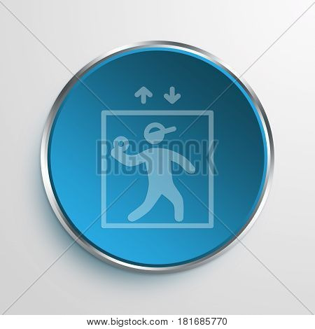 Blue Sign Elevator Pitch Symbol icon Business Concept
