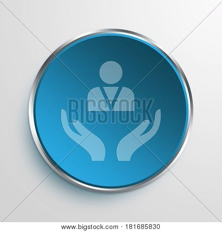 Blue Sign Employee Symbol icon Business Concept