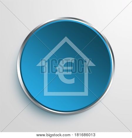 Blue Sign Euro Equity Symbol icon Business Concept