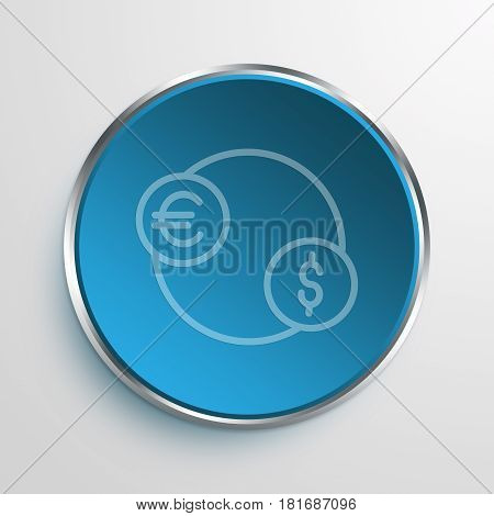 Blue Sign foreign exchange Symbol icon Business Concept