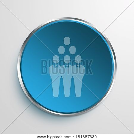 Blue Sign group Symbol icon Business Concept