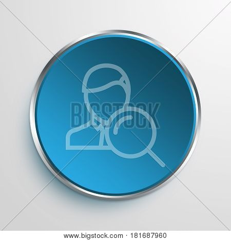 Blue Sign headhunter Symbol icon Business Concept