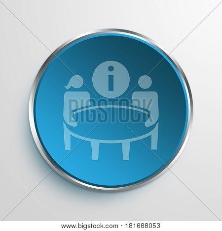 Blue Sign help desk Symbol icon Business Concept