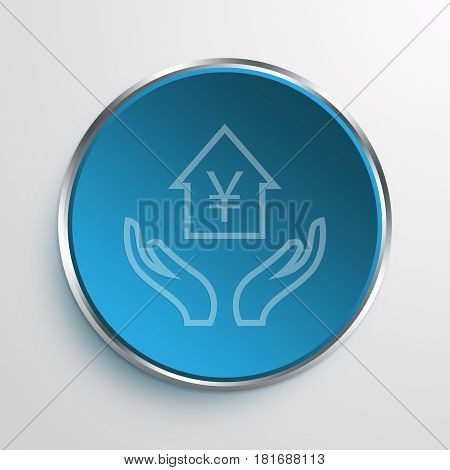 Blue Sign home equity Symbol icon Business Concept