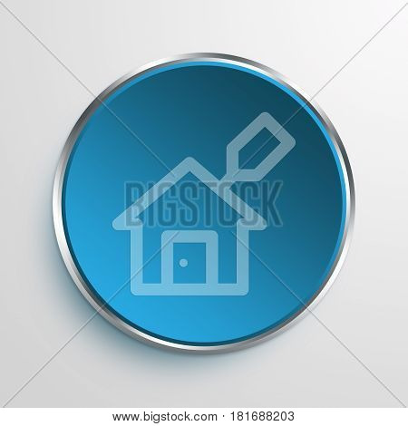 Blue Sign house leasing Symbol icon Business Concept