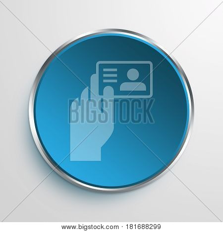 Blue Sign Identification Document Symbol icon Business Concept