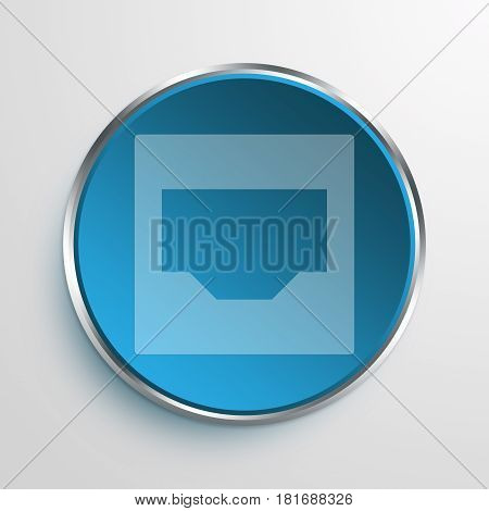 Blue Sign Inbox Symbol icon Business Concept
