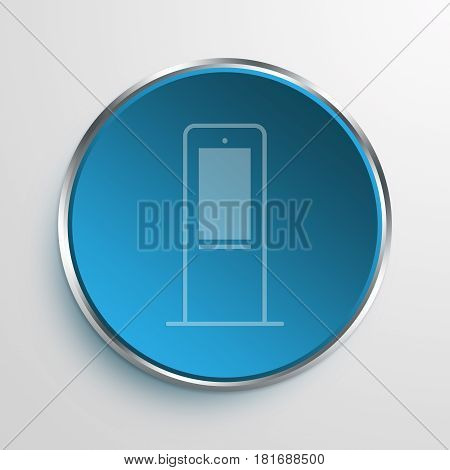 Blue Sign Interactive mupi Symbol icon Business Concept