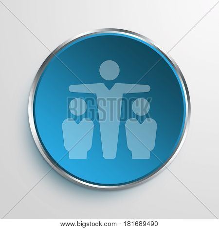 Blue Sign Marketing Intermediary Symbol icon Business Concept