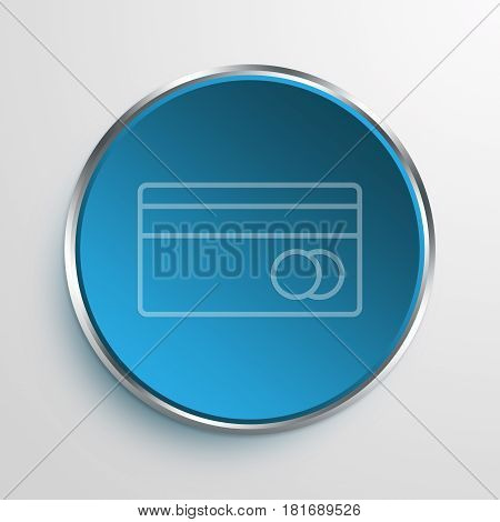Blue Sign mastercard Symbol icon Business Concept