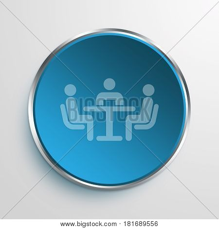 Blue Sign mediation Symbol icon Business Concept