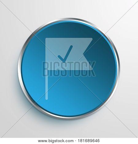 Blue Sign milestone Symbol icon Business Concept