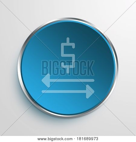 Blue Sign money exchange Symbol icon Business Concept