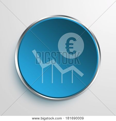 Blue Sign Money Lost Symbol icon Business Concept