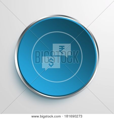 Blue Sign negotiation Symbol icon Business Concept