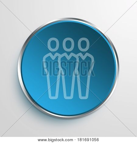 Blue Sign people Symbol icon Business Concept