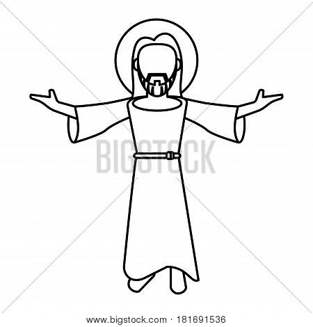 jesus christ blessed faith outline vector illustration eps 10