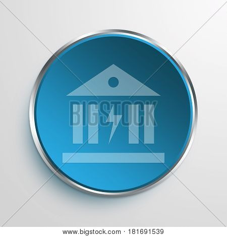 Blue Sign Power Banking Symbol icon Business Concept