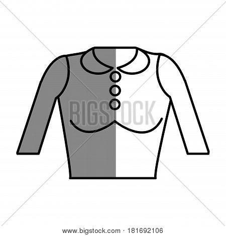 line nice blouse cloth style, vector illustration design