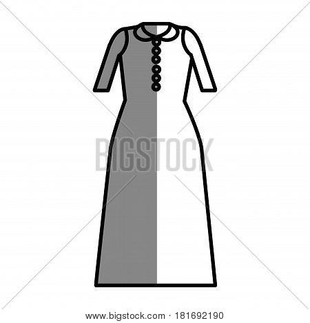 line long dress cloth style, vector illustration design