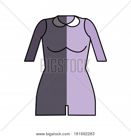 jumpsuit short cloth style, vector illustration design