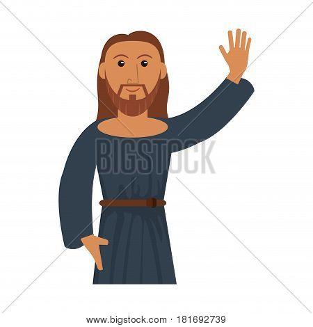 portrait jesus christ blessed vector illustration eps 10