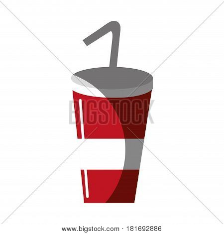 delicious refreshing soda beverage, vector illustration design