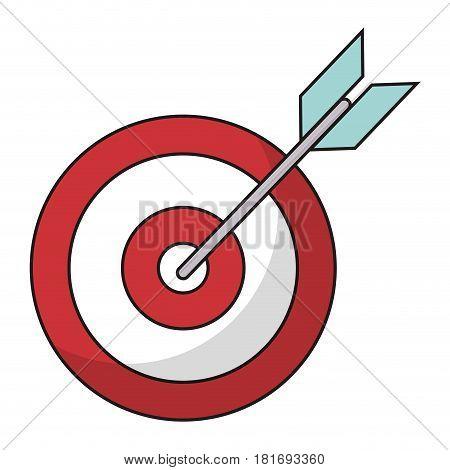 target blank arrow objetive vector illustration eps 10