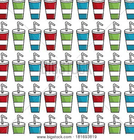 delicious refreshing soda beverage background, vector illustration design