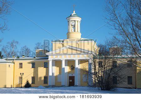 The old church of St Mary Magdalene. Sunny winter day. Pavlovsk