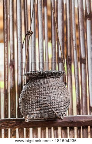 Bamboo Creel for fisherman a thai vintage craft handmade