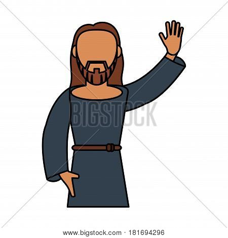 jesus christ catholic blessed spirituality vector illustration eps 10