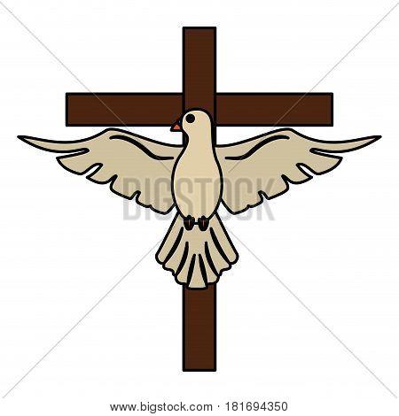 holy spirit cross sac hope vector illustration eps 10