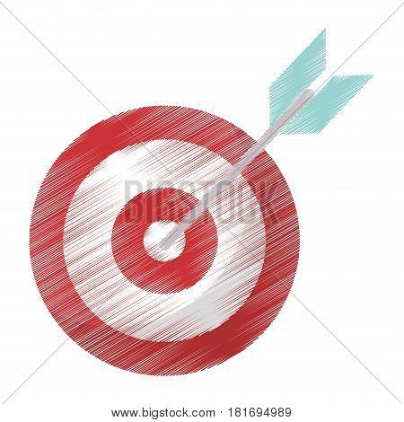drawing target blank arrow objetive vector illustration eps 10