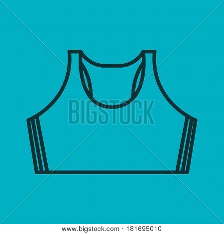 femenine sport wear clothes vector illustration design