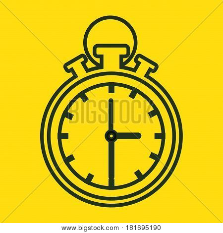 chronometer device isolated icon vector illustration design
