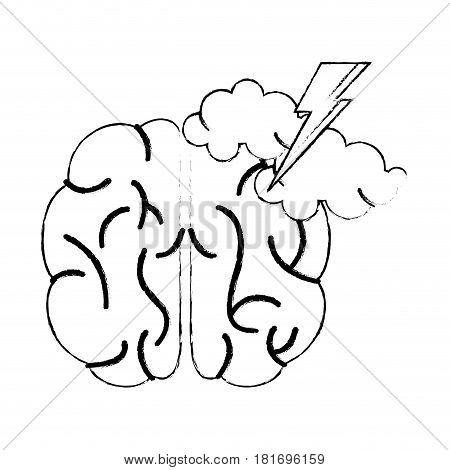 brain idea brainstorm knowledge sketch vector illustration eps 10