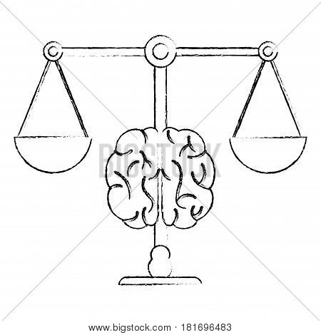 brain balance justice equality image vector illustration eps 10