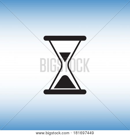 Hourglass flat vector icon. Hourglass isolated vector sign. Time measurement vector image.