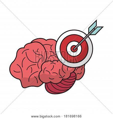 brain target objetive marketing vector illustration eps 10
