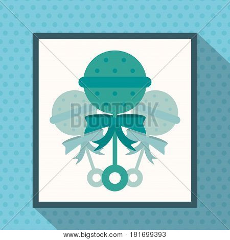 baby rattle toy shadow vector illustration eps 10