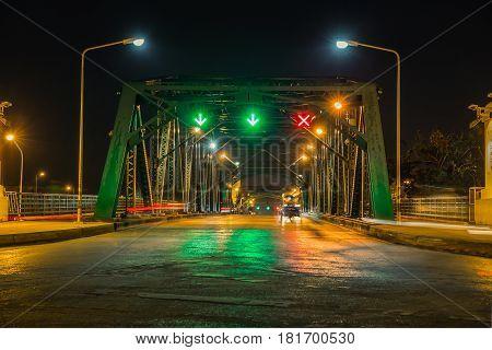 Memorial Bridge is a bascule bridge over the Chao Phraya River in Bangkok Thailand