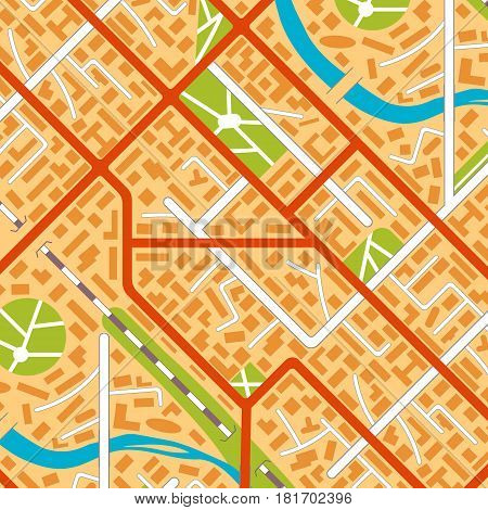 City map background. EPS10 vector illustration in flat style.