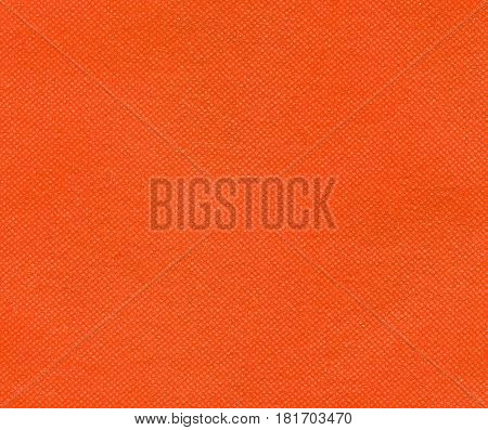 Orange Nonwoven Polypropylene Fabric Texture Background