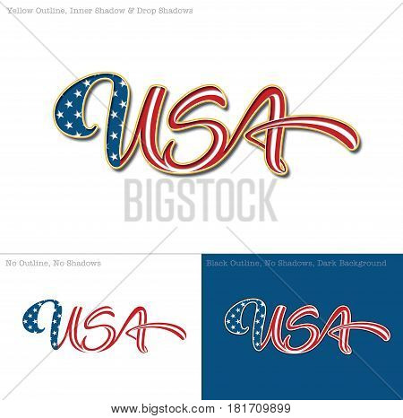 Vector illustration of a Custom-made Lettering of the word