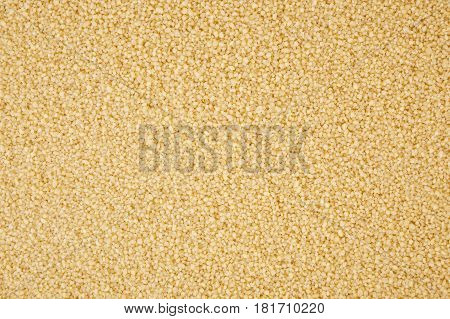 Close up of dry cous cous background