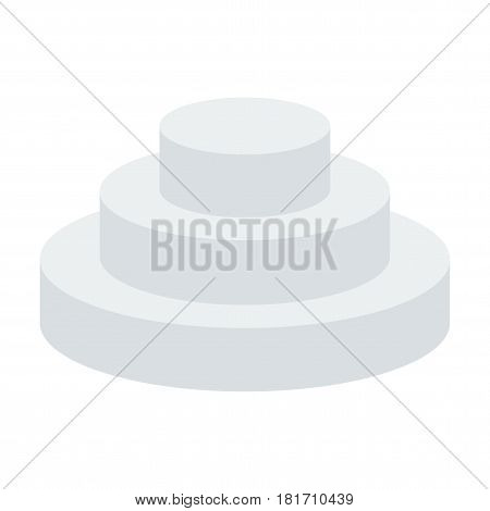 Podium for awards. Pedestal of honor. Flat vector cartoon illustration. Objects isolated on a white background.