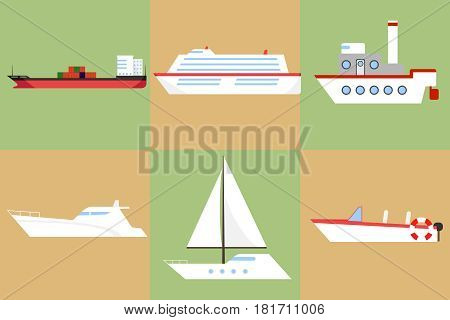 A Ship, A Barge, A Yacht, A Boat