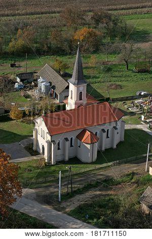 KRATECKO, CROATIA - NOVEMBER 07: Parish Church of Saint Roch in Kratecko, Croatia on November 07, 2007.
