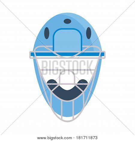 Baseball equipment. Batting protective helmets. Flat vector cartoon illustration. Objects isolated on a white background.
